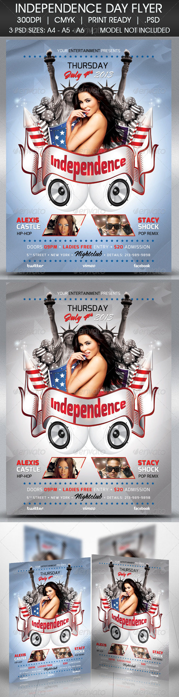 GraphicRiver Independence Day Flyer 4734302