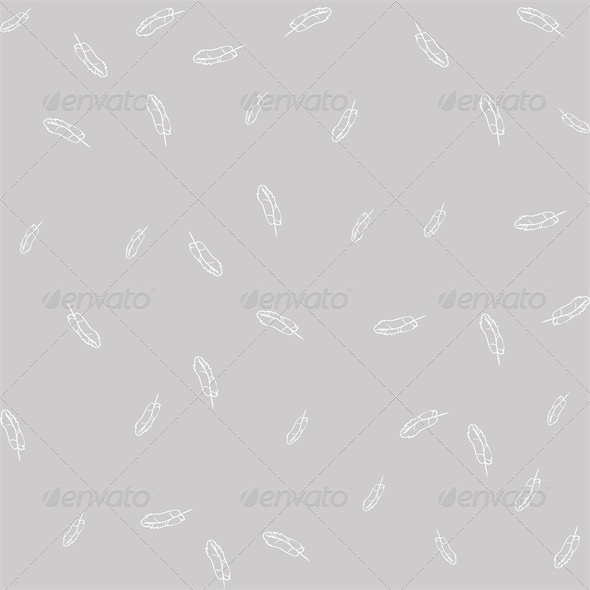 GraphicRiver Seamless Gray Background with White Feathers 4828013