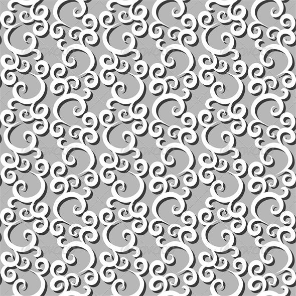GraphicRiver White Swirls Seamless Background 4828021