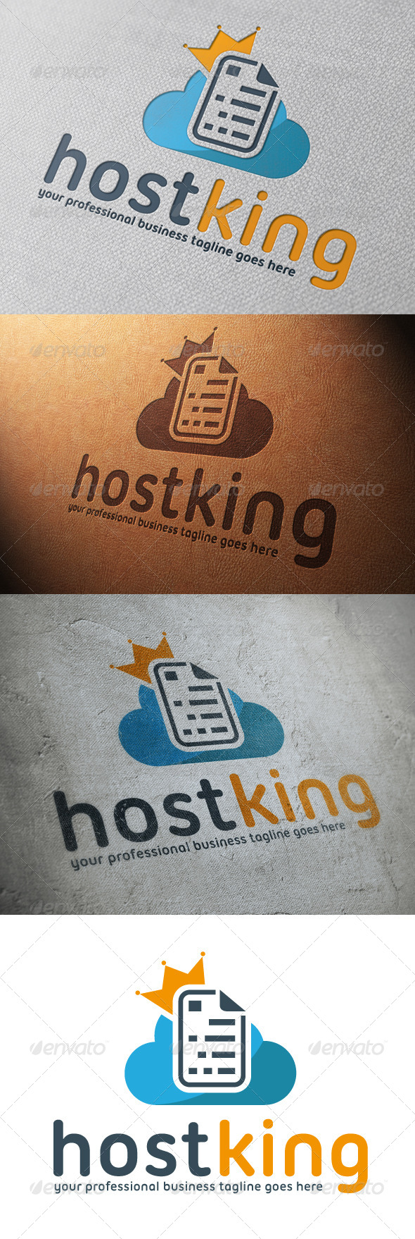 Cloud Host King Logo Template