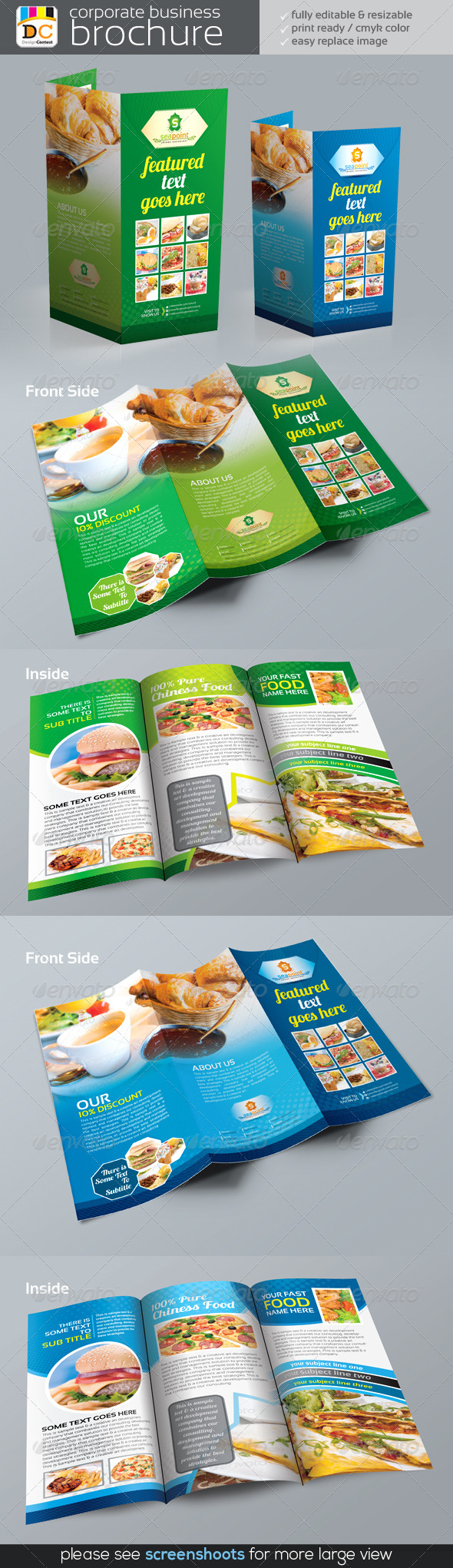 Sea Point Tri-fold Corporate Business Brochure