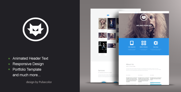 ThemeForest FOXY One Page Responsive HTML Template 4823243
