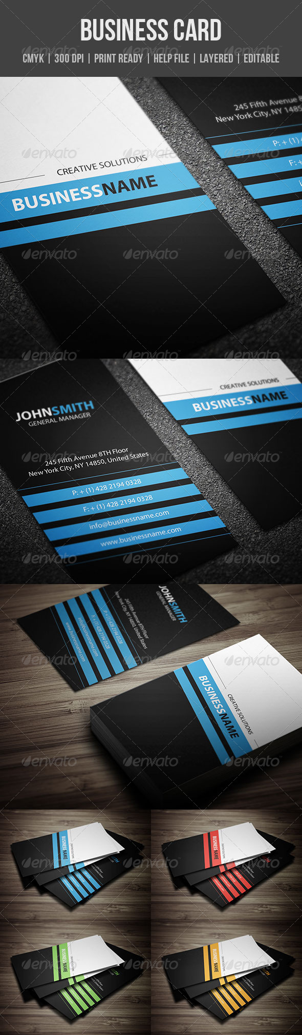 GraphicRiver Corporate Business Card 4828687