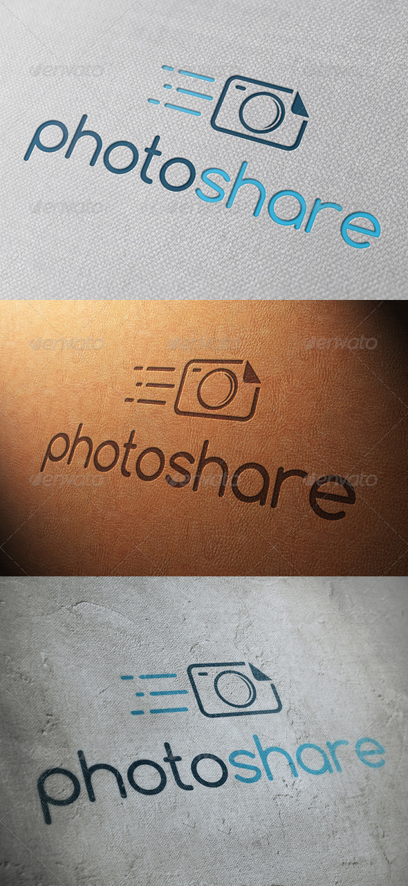 GraphicRiver Photo Share Logo Template 4828748