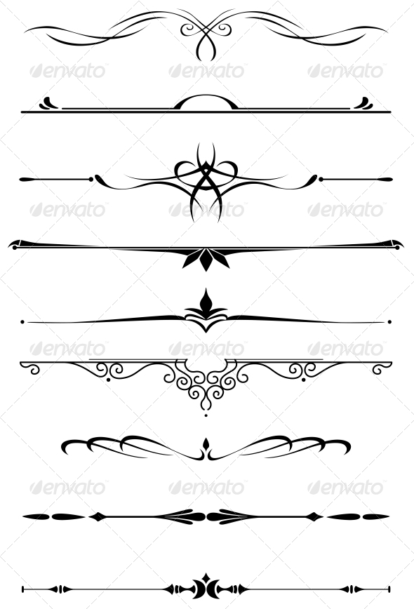Vintage Dividers And Borders Graphicriver