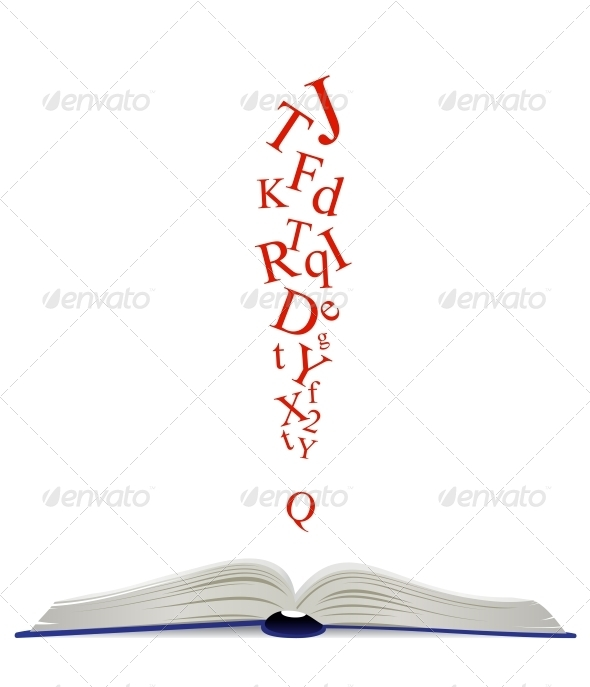 GraphicRiver Opened Book and Attention Sign 4828861