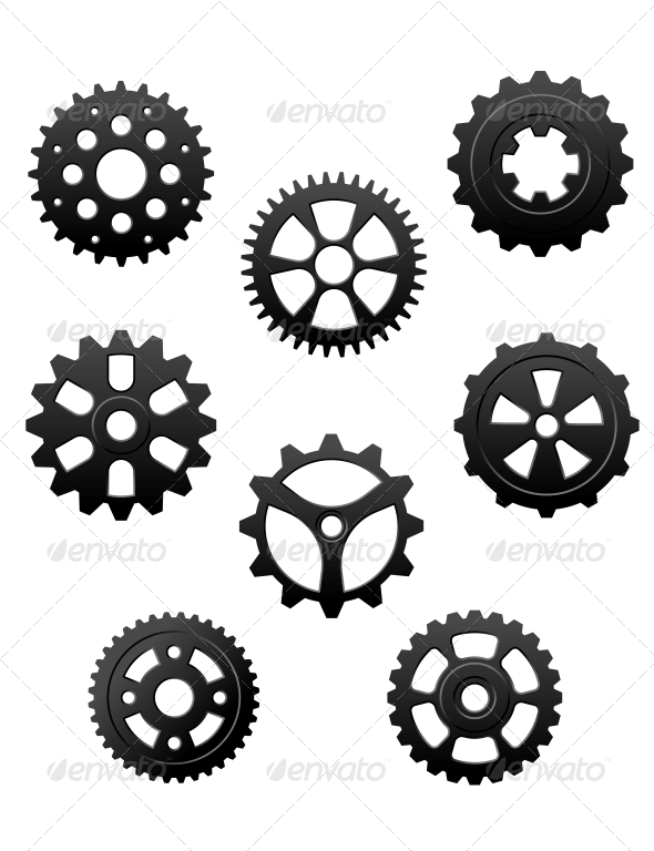 GraphicRiver Pinions and Gears Set 4828863