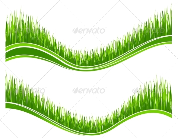 GraphicRiver Two Waves of Green Grass 4828890