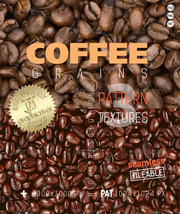 GraphicRiver Coffee Grains Texture Backgrounds 4828926