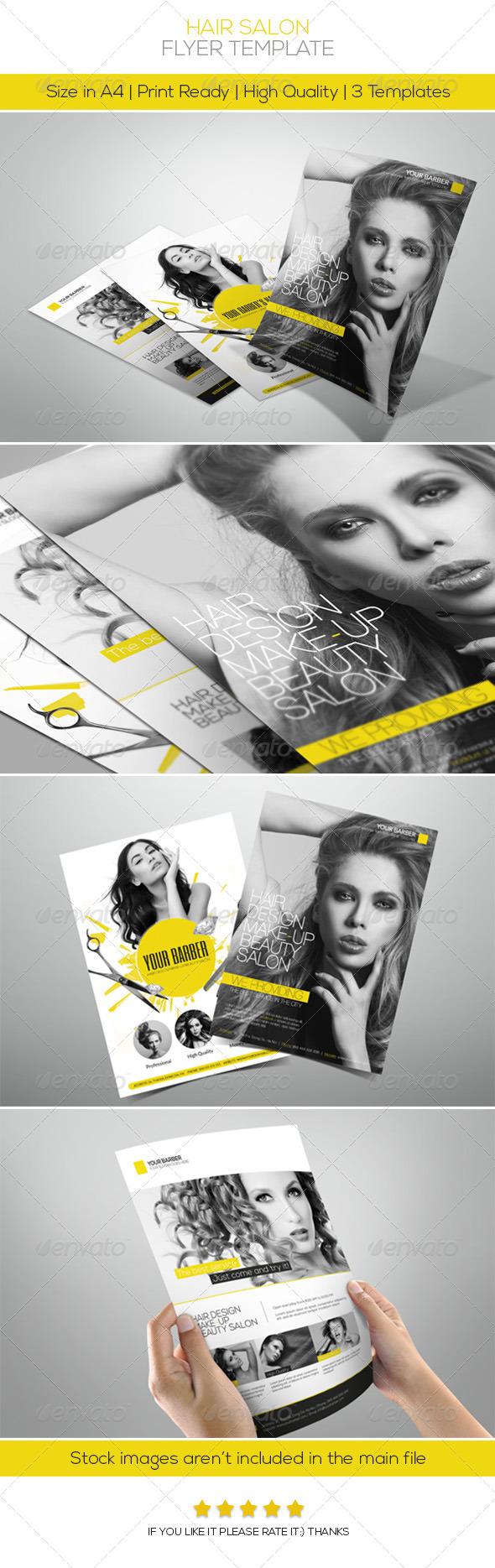GraphicRiver Premium Hair Salon Flyer 4829013