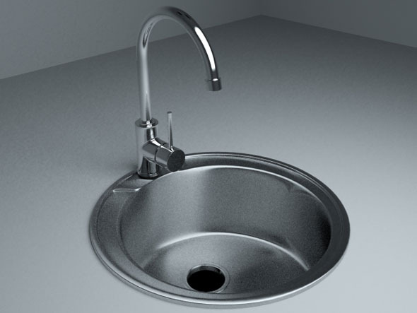 Sink with Mixer Tap