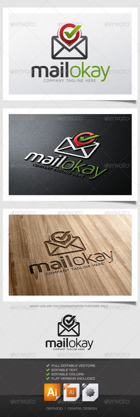 GraphicRiver Mail Okay Logo 4829866