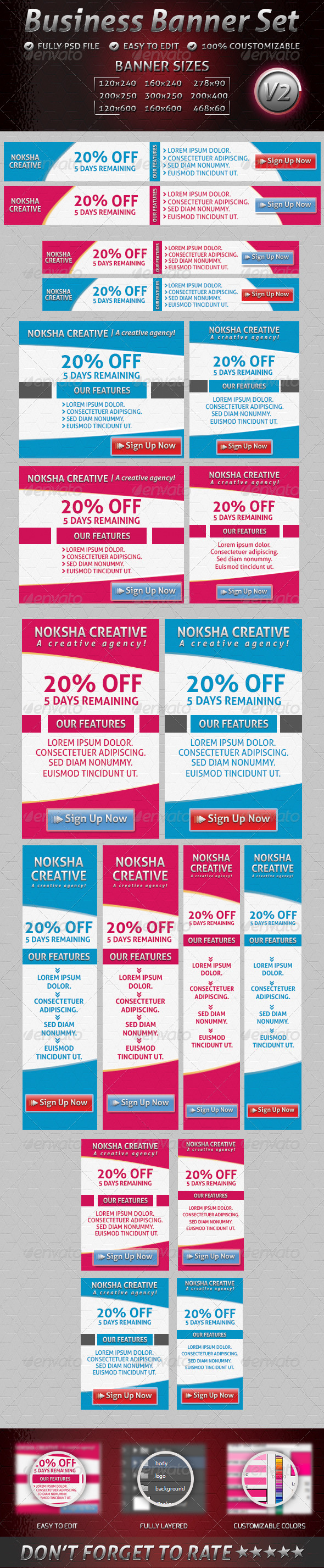 GraphicRiver Business Banner Set V2 4829884