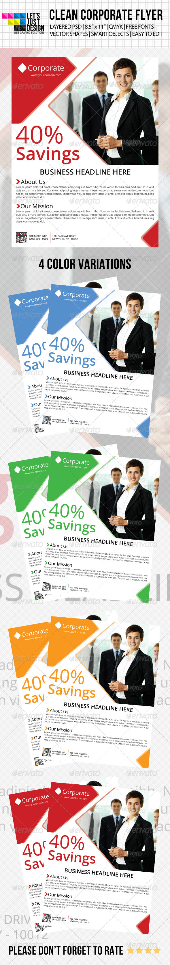 GraphicRiver Clean Corporate Flyer 4765447