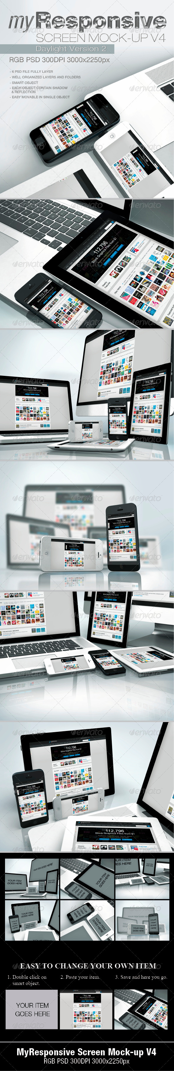 GraphicRiver myResponsive screen mock-up V4 4831763