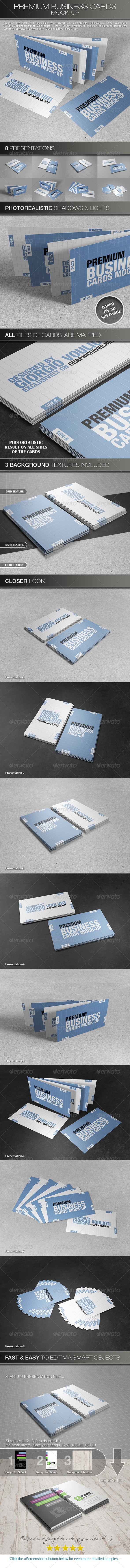 GraphicRiver Premium Business Cards Mock-Ups 4831991