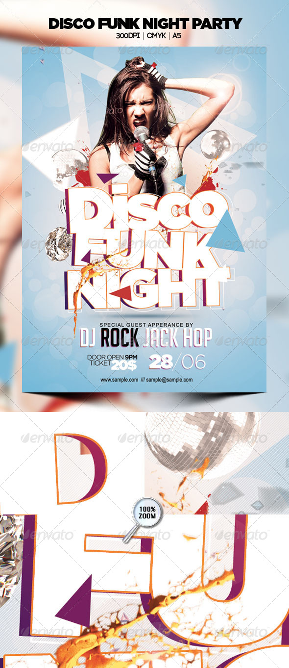 GraphicRiver Disco Funk Night Party 4832011