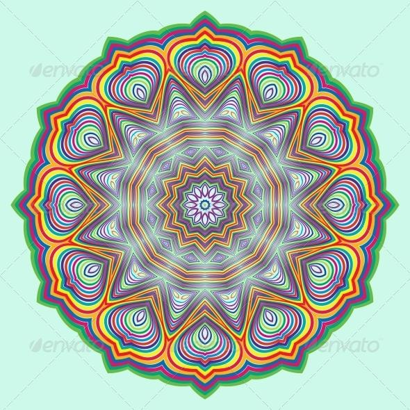 GraphicRiver Vector Round Decorative Design Element 4832213