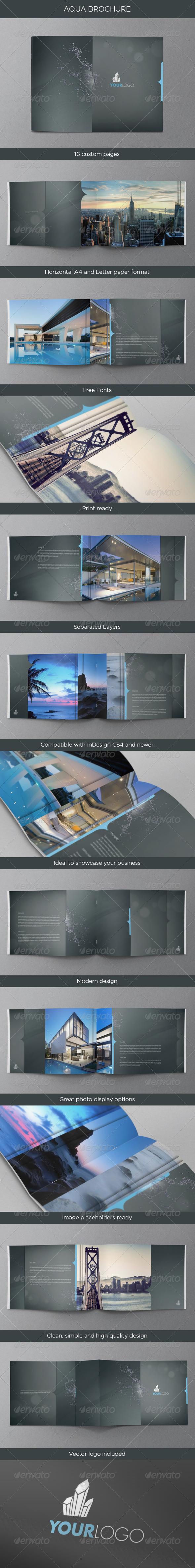 GraphicRiver Aqua Premium Brochure 4646509