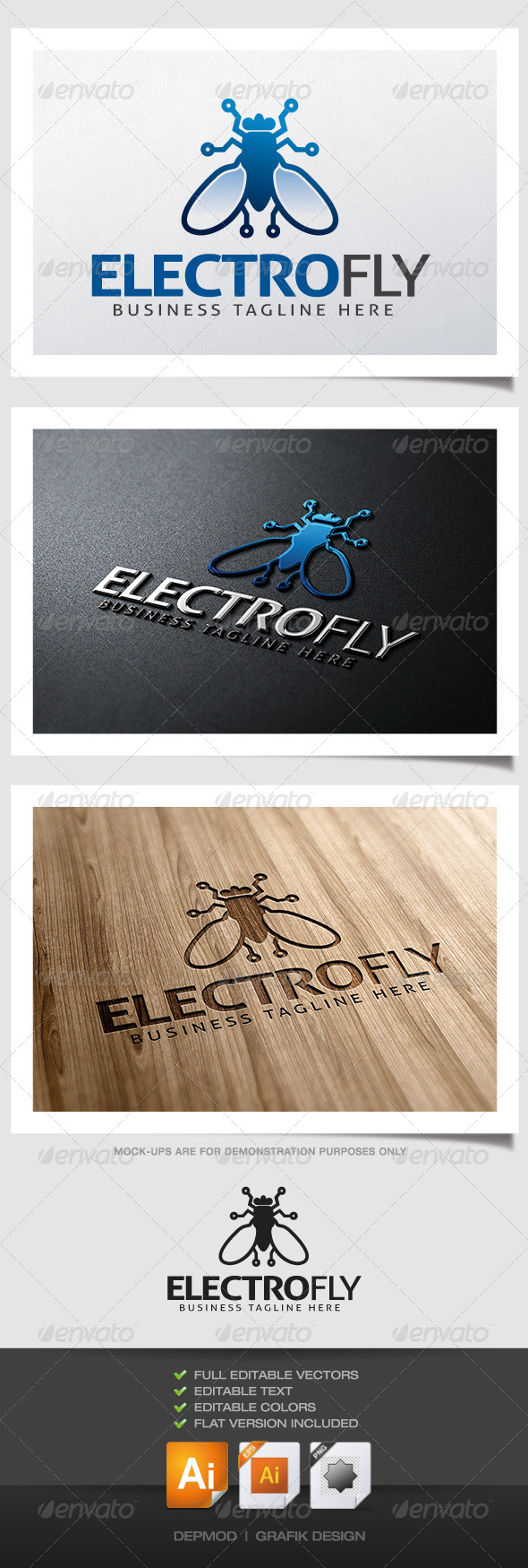GraphicRiver Electro Fly Logo 4832510