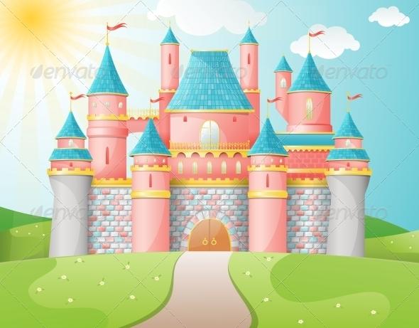 GraphicRiver Fairytale Castle Illustration 4832513