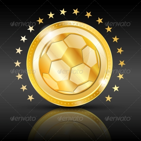 GraphicRiver Gold Football Coin Sport Background 4832515