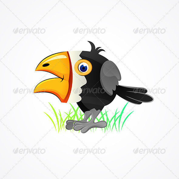 GraphicRiver Comic Crow 4802335