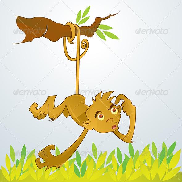 GraphicRiver Thinking Monkey 4802386