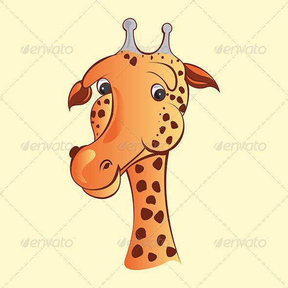 GraphicRiver Comic Giraffe Face 4794231