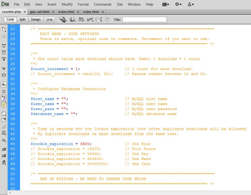 Ajax Download Counter by mspyratos   CodeCanyon