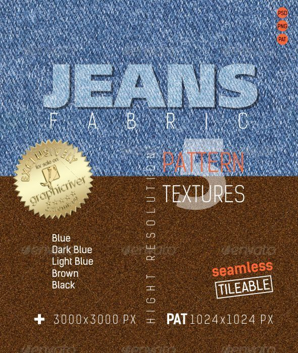GraphicRiver Jeans Fabric Texture Backgrounds 4832807