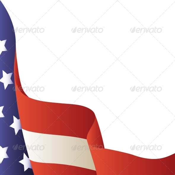 Vector Illustration - 4th of July. American Flag
