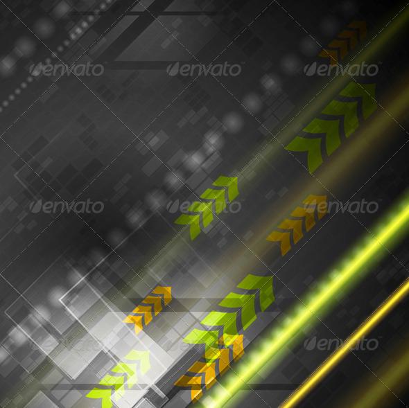 GraphicRiver Bright Hi-Tech Vector Background 4833382
