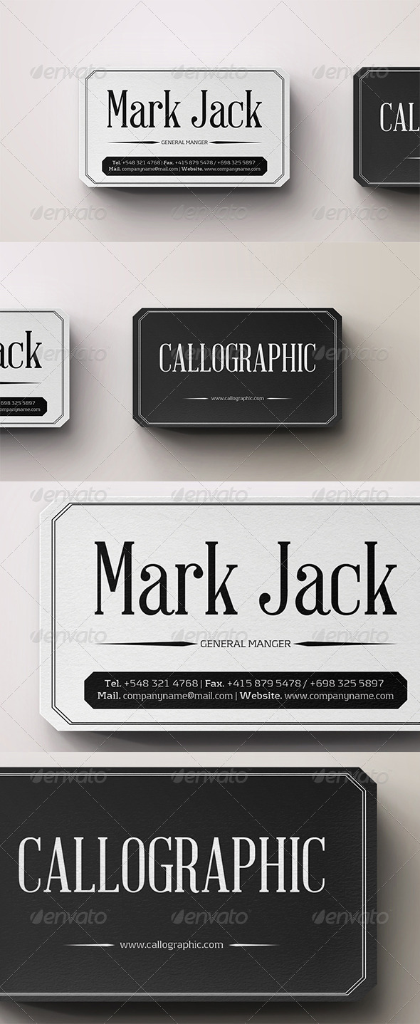 GraphicRiver Classical Business Card 4833402