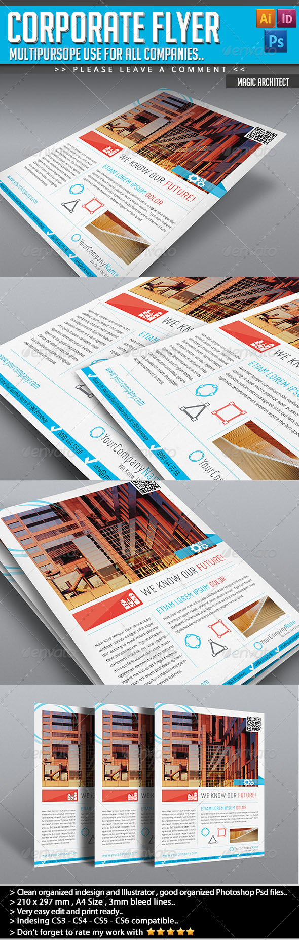 GraphicRiver Corporate Flyer Happy Clients 4630224