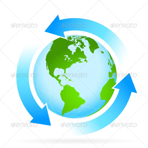 GraphicRiver Icon Planet Earth with Arrow 4833434