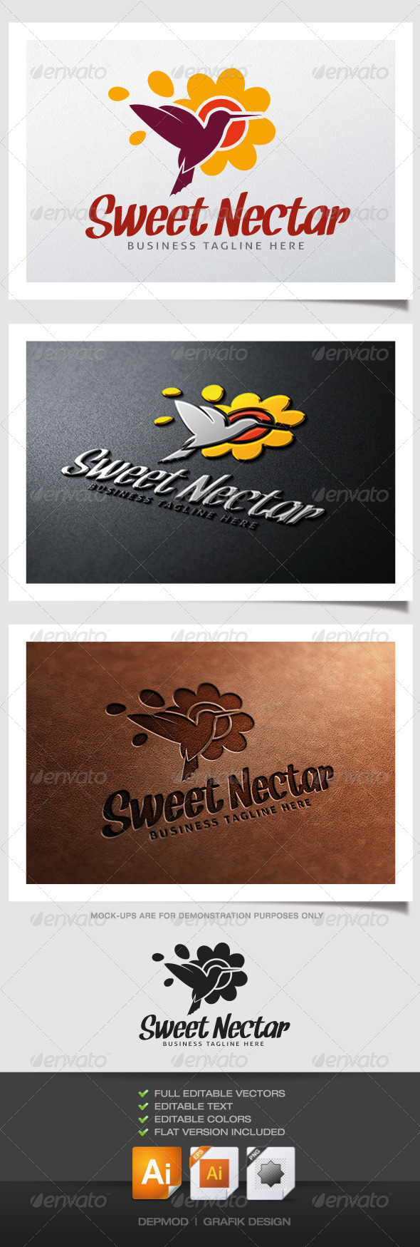 GraphicRiver Sweet Nectar Logo 4833543