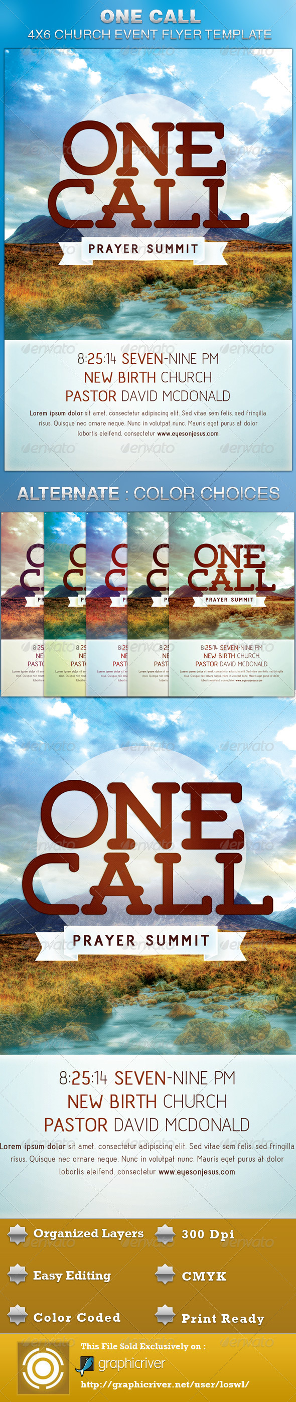 One Call Church Flyer Template - Church Flyers