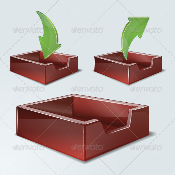 GraphicRiver DropBoxes Office Filing Tray 4834618