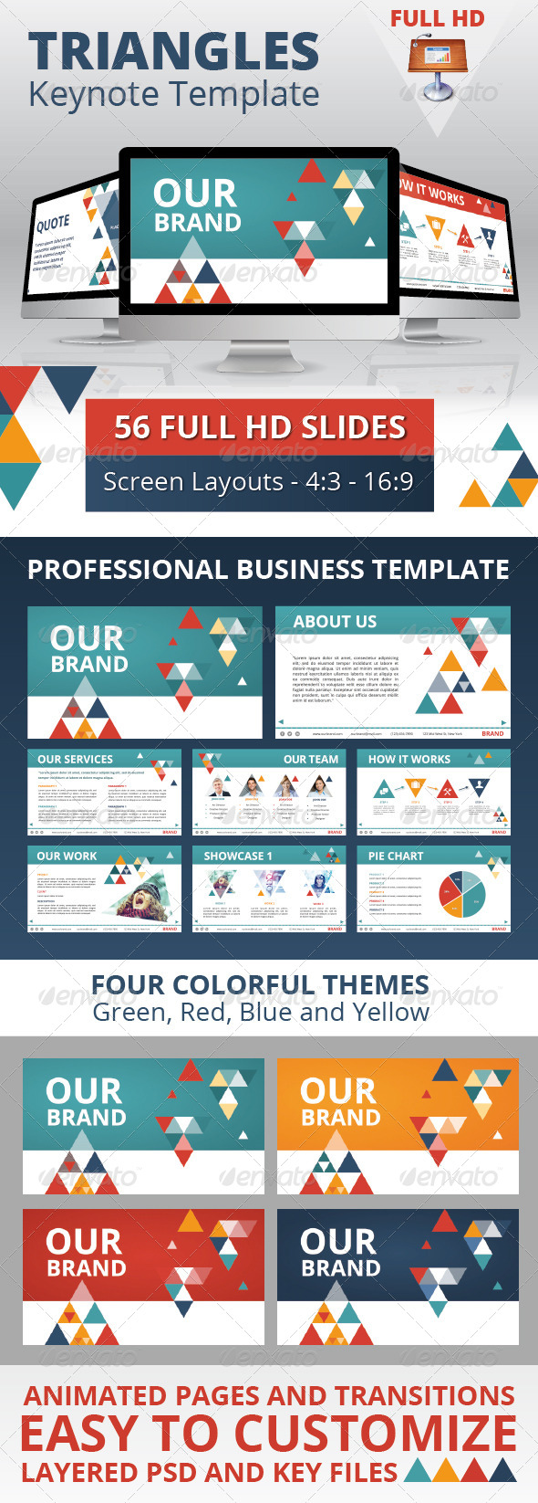 GraphicRiver Triangles Business Keynote Template 4826850