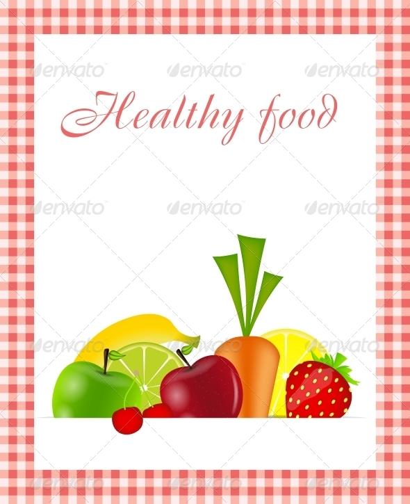 GraphicRiver Healthy Food Menu Template Vector Illustration 4834951
