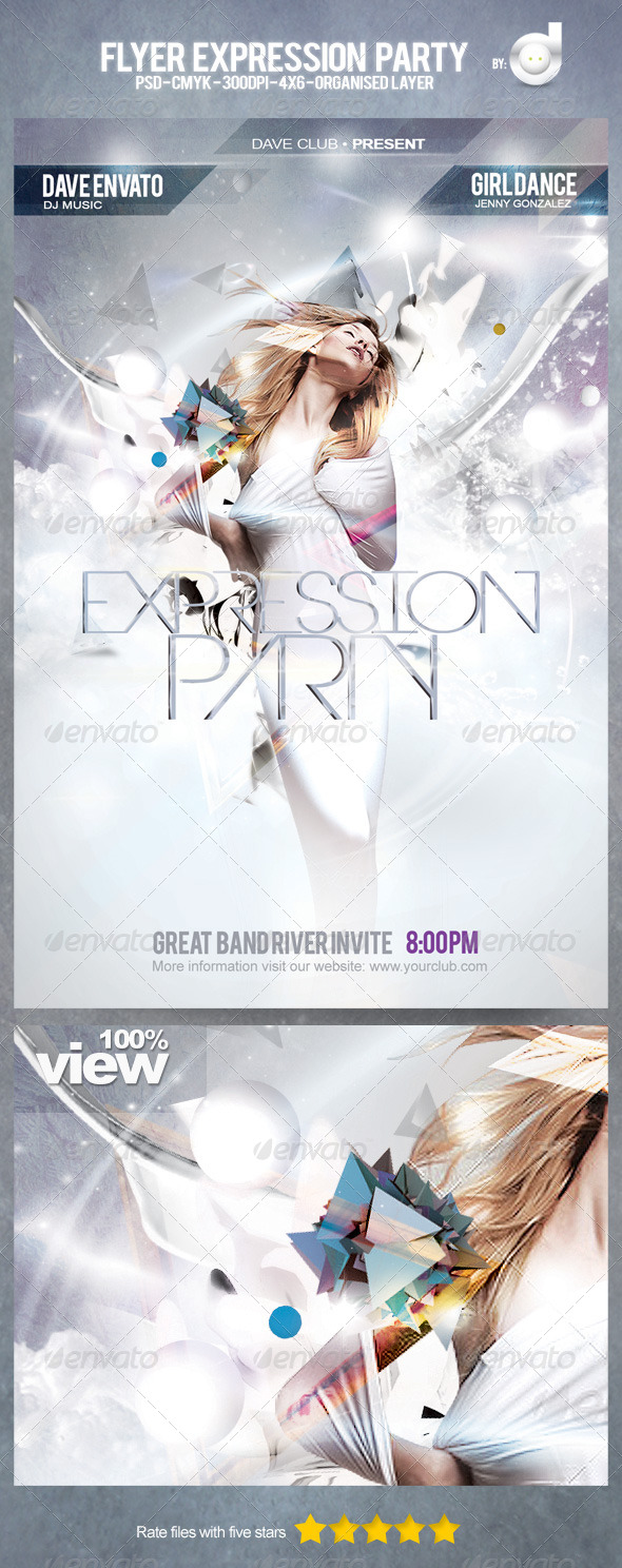 Flyer Expression Party - Clubs & Parties Events