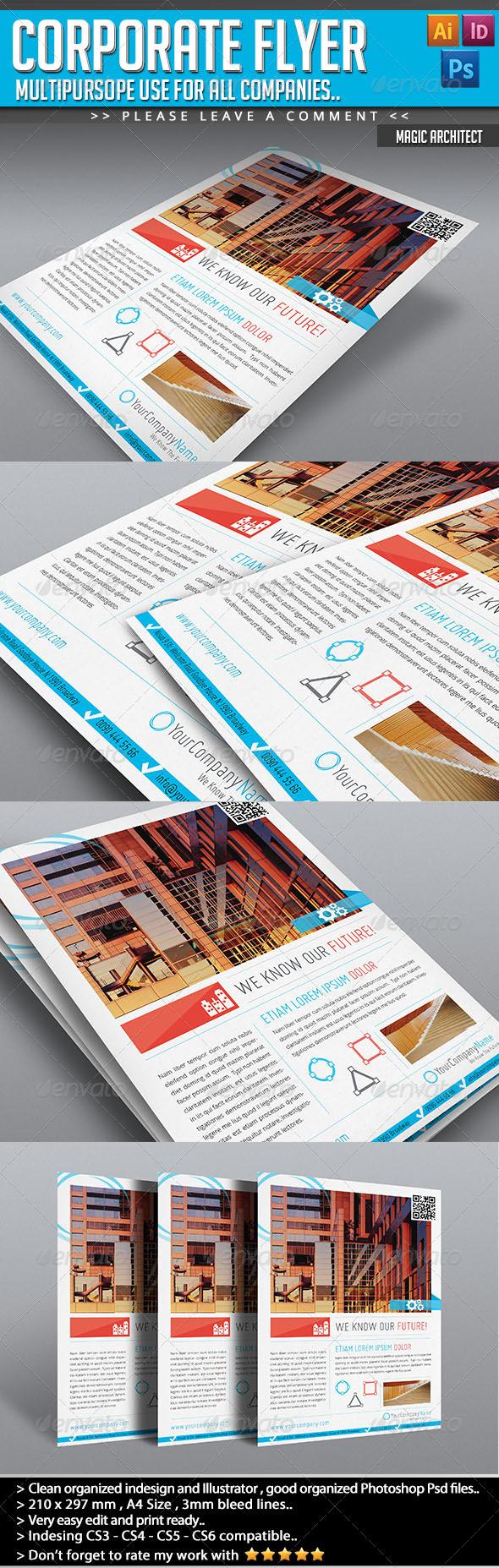 GraphicRiver Corporate Flyer Magic Architect 4630224