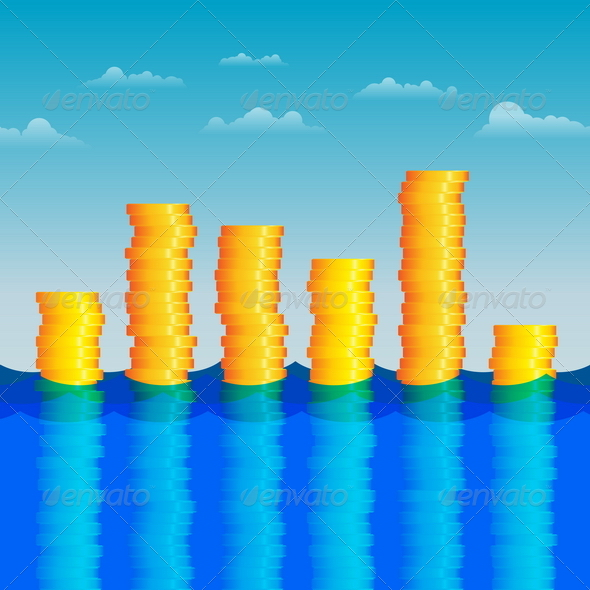 GraphicRiver Coins in the Water 4835590