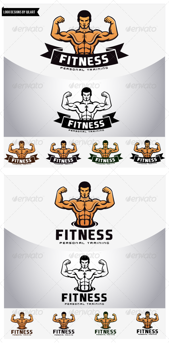GraphicRiver Fitness Personal Training Logo Template 4821637