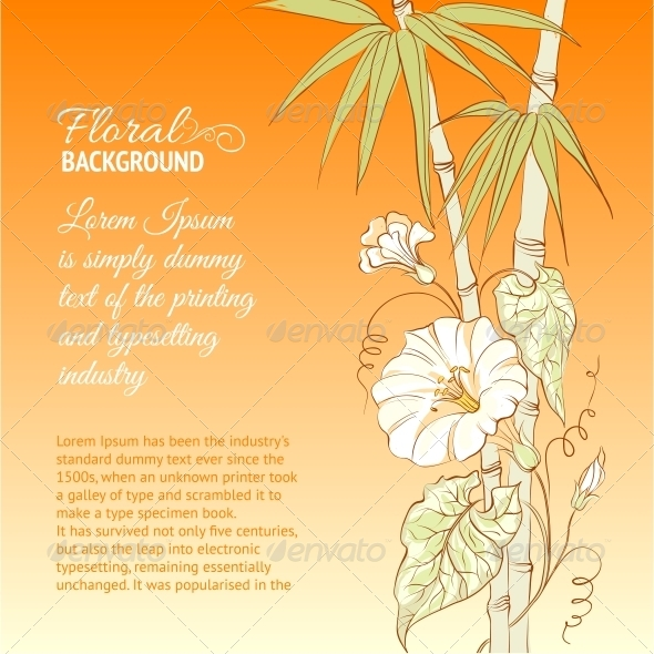 GraphicRiver Bindweed Flower and Bamboo 4835795