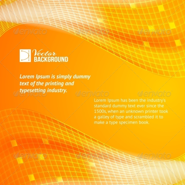 GraphicRiver Abstract Orange Tiles Background 4835883