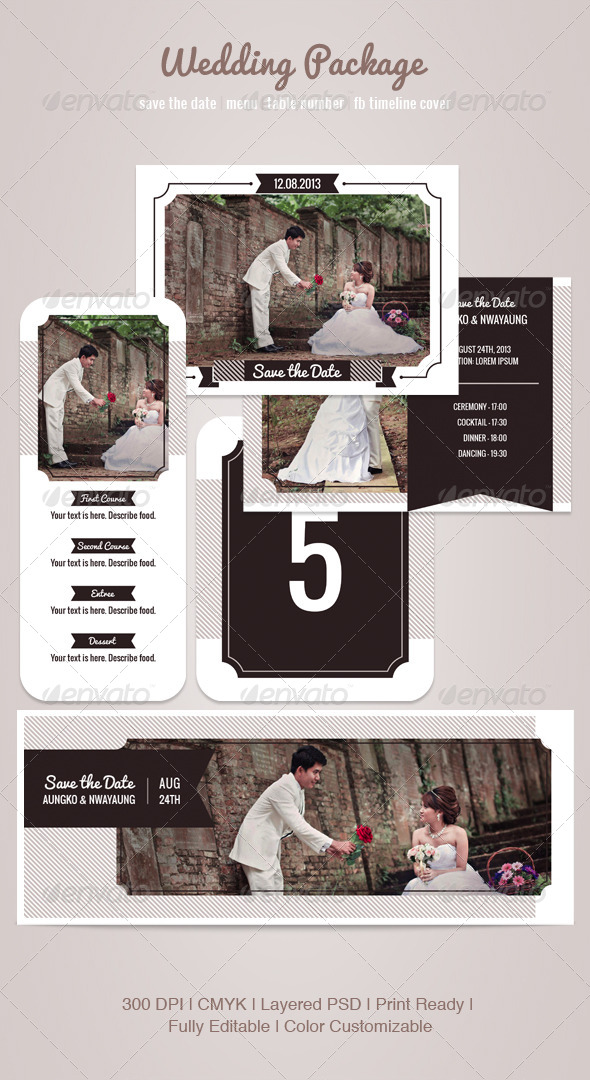 GraphicRiver Wedding Package 4835895
