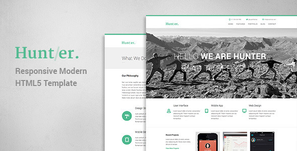 Hunter - Responsive Modern WordPress Theme
