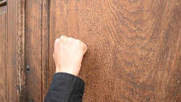 Knocking on wooden door by christian fletcher videohive for Door knocking sound